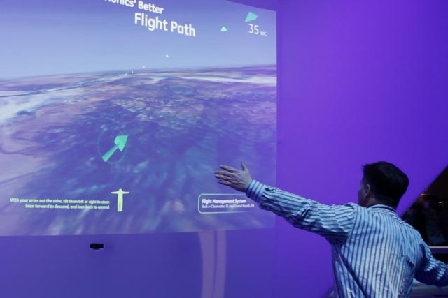 Unified Field Interactive Developed the gesture interactives for the GE what works conference.
