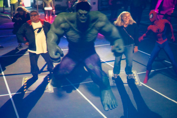 The Augmented Reality Wall projection at the Marvel Experience developed by Unified Field Interactive Studio.