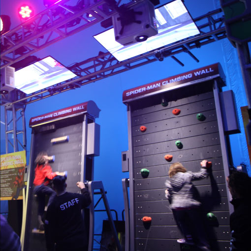 Spiderman Climbing wall simulation developed by Unified Field for the Marvel Experience.