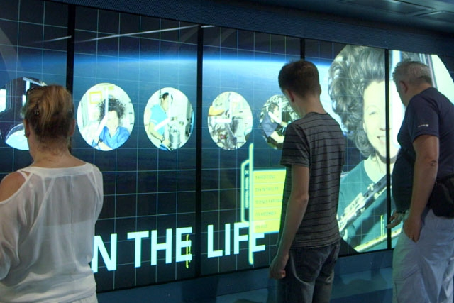 Unified Field Interactive Studio designed all of the digital interactives the Kennedy Space Center Space Shuttle Atlantis Attraction including: simulators, augmented reality, media walls, multitouch, and projection mapping.
