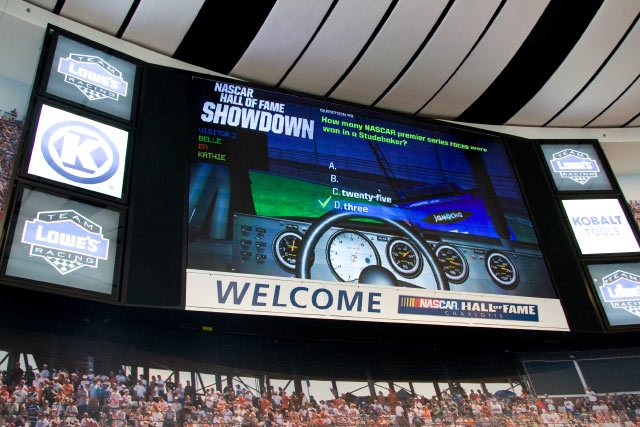 Unified Field Interactive Studio created a host of interactive programs for the NASCAR HALL of Fame including: Interactive Kiosks, RFID Tracking, Simulators, Media, Interactive Design.