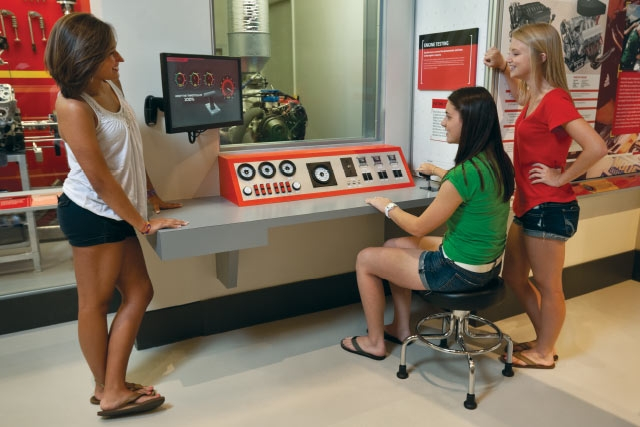 Unified Field Interactive Studio created a host of interactives for the NASCAR Hall of FAME.