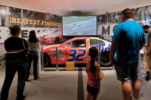 Unified Field Interactive Studio created a host of interactive programs for the NASCAR HALL of Fame including: Interactive Kiosks, RFID Tracking, Simulators, Media, and Interactive Design.