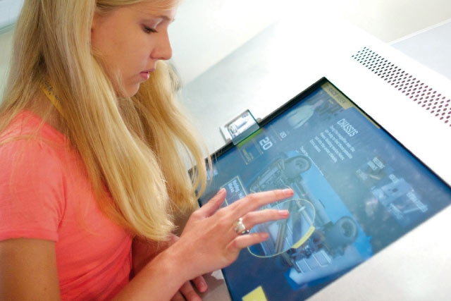 Unified Field Interactive Studio created this Interactive kiosk for the NASCAR HALL of Fame.