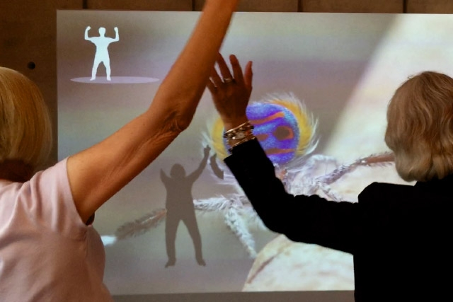 The Color of Life Gesture Recognition interactive at the California Academy of Science developed by Unified Field.