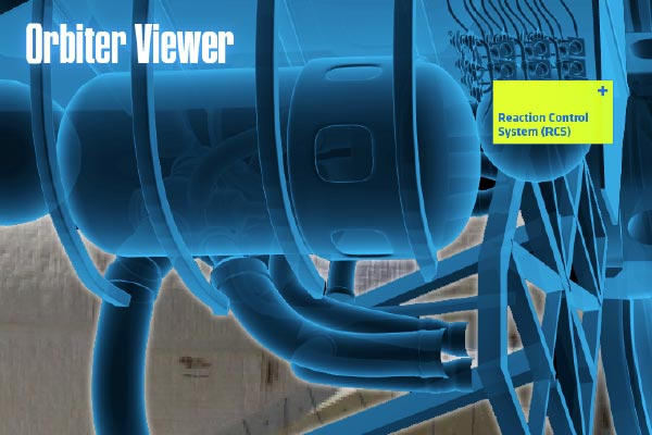 Unified Field interactive studio created an augmented reality viewer that allows guests to explore the internal features of the space shuttle Atlantis.