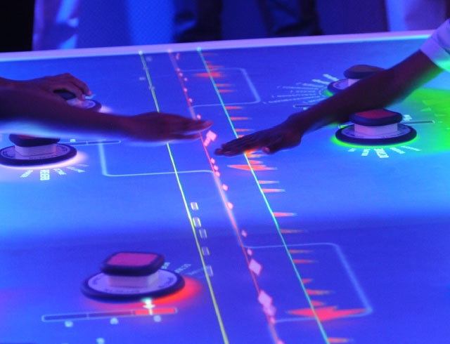 The Music Mixer Interactive Table at the Sony Wonder Technology Lab.
