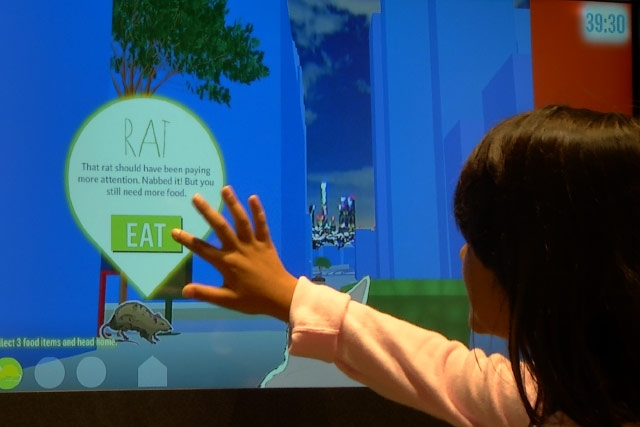 This touchscreen interactive at the Nature Lab in the L.A. County Museum of Natural History lets guests explore the wilds of Los Angeles.